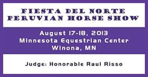 Fiesta Del Norte Peruvian Horse Show