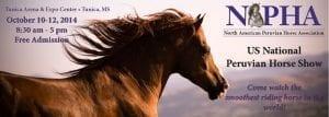 2014 NAPHA US National Peruvian Horse Show, Tunica, MS