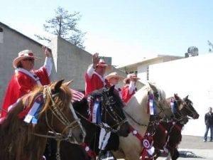 Southern California Peruvian Paso Horse Club forming a barrida
