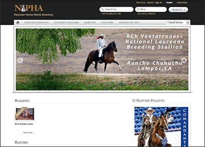 Peruvian Horse World Directory and 2014 NAPHA Anuario